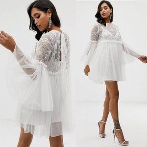 ⭐NWT⭐ ASOS - Embellished BabyDoll Dress